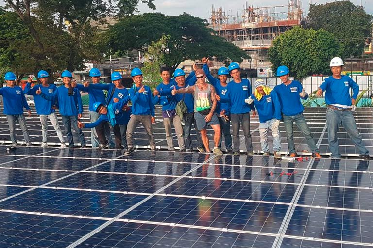 Local PV professionals at work at NDDU, General Santos City